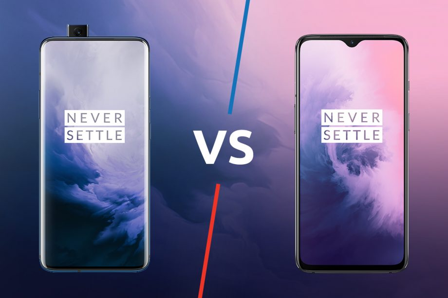 OnePlus 7T and OnePlus 7T Pro have very few but listed differences.