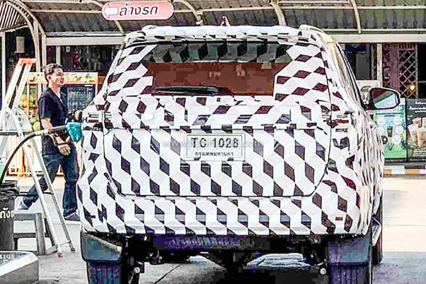 The 2020 Toyota Fortuner Facelift test mule spotted during a road test in Thailand.