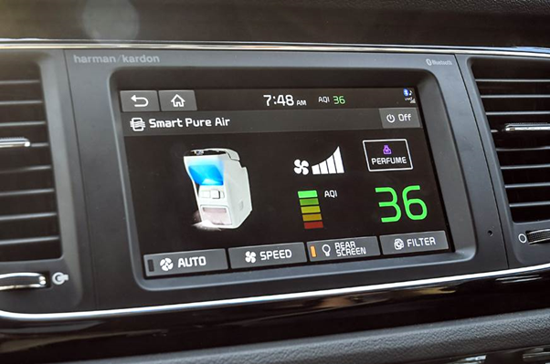 The long waited MVP sports a touchscreen infotainment system.
